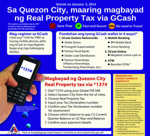 Pay QC real property tax with GCash